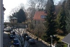 Sicht aus dem Fenster Wohnung 4